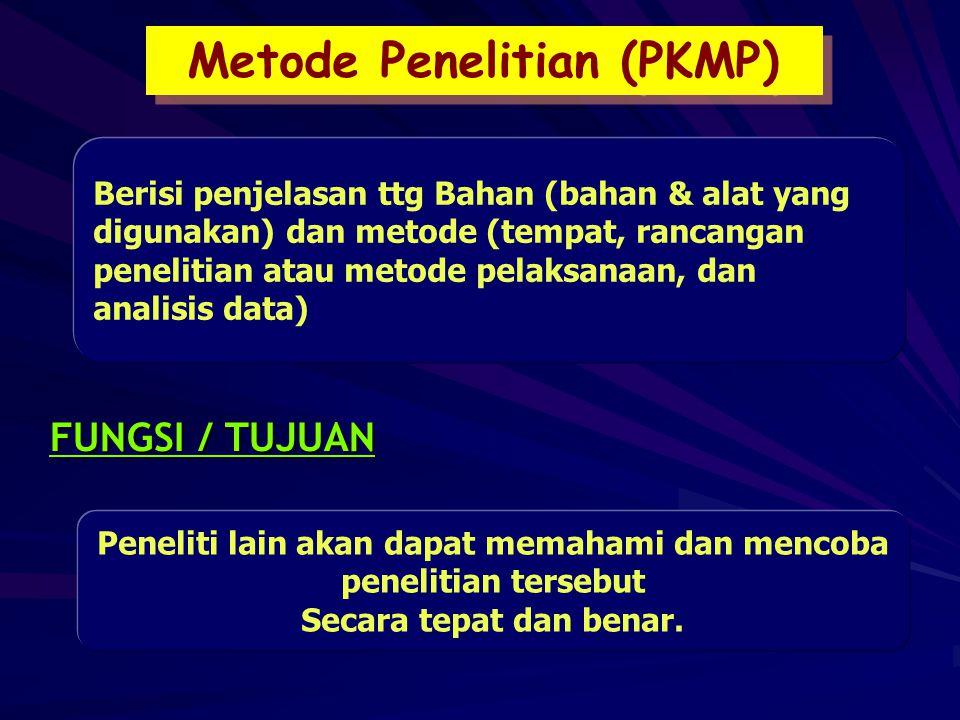 Metode Penelitian (PKMP)