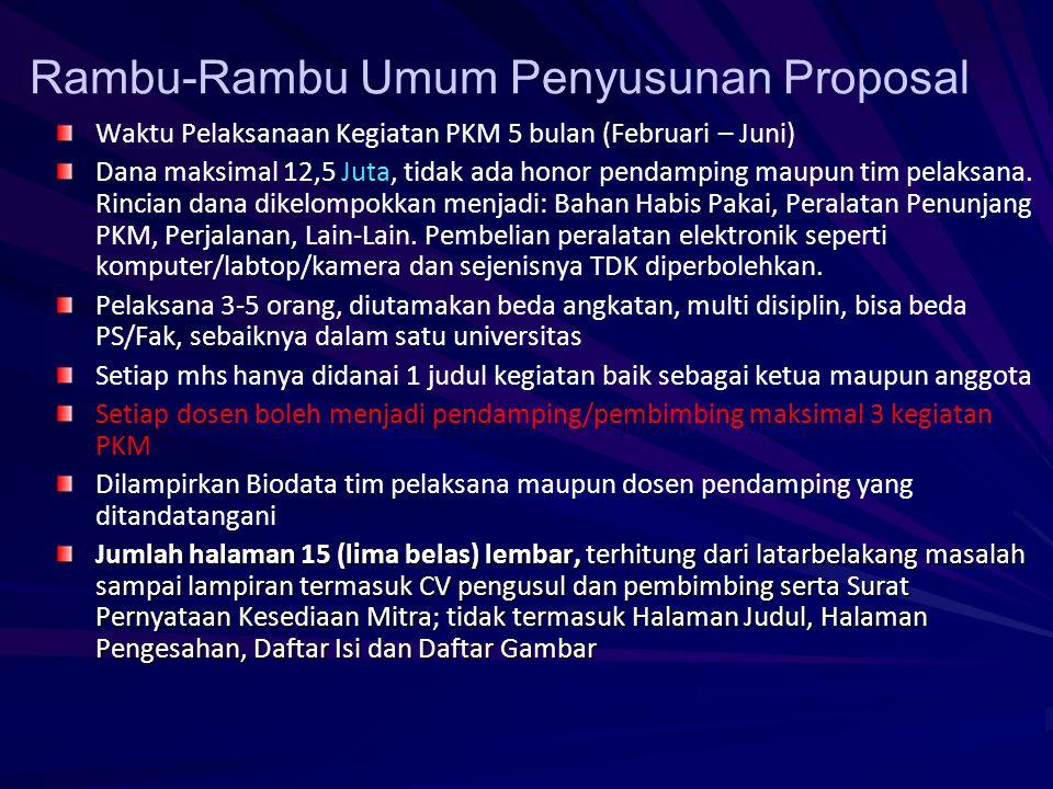 Rambu-Rambu Umum Penyusunan Proposal