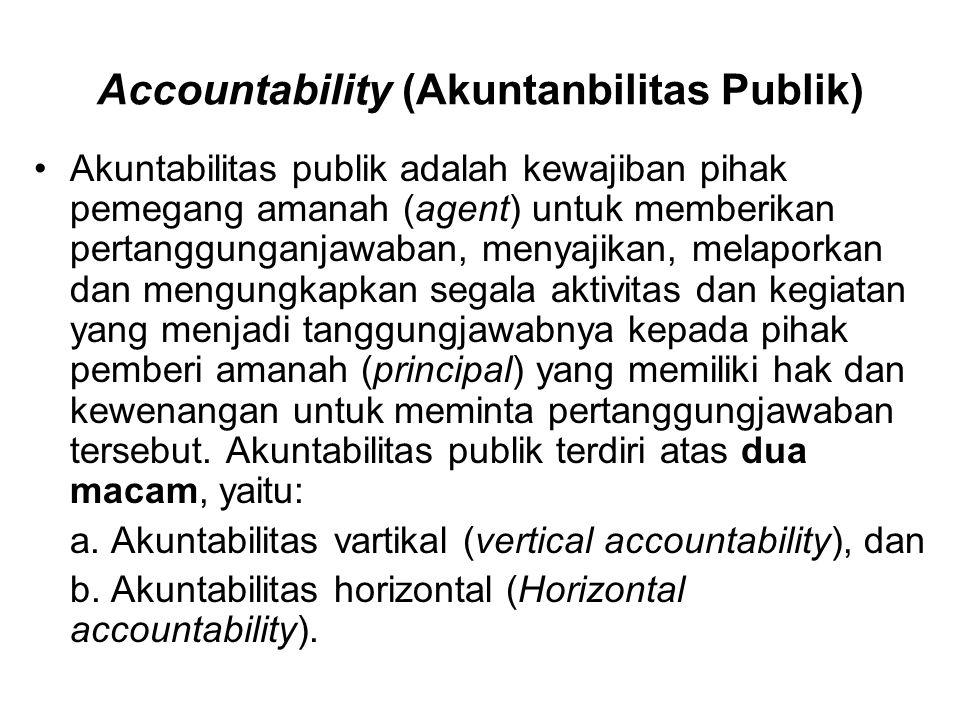 Accountability (Akuntanbilitas Publik)