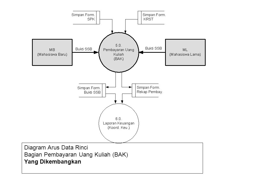 Diagram Arus Data Rinci