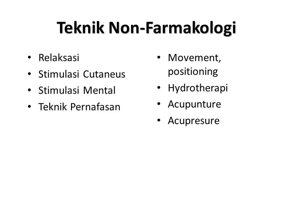 Teknik Non-Farmakologi