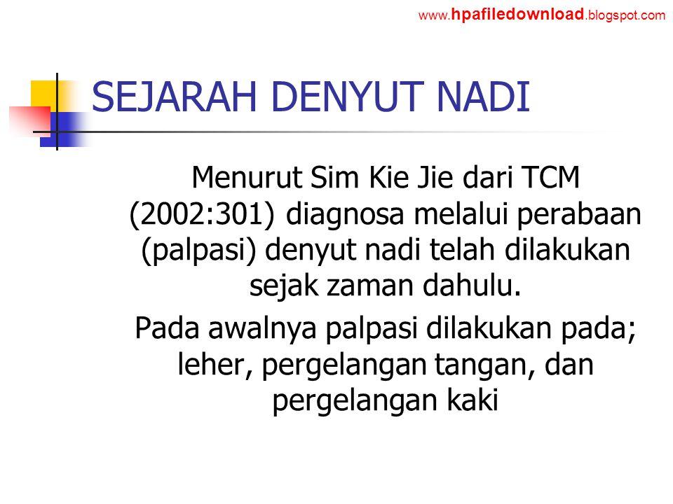 www.hpafiledownload.blogspot.com SEJARAH DENYUT NADI.