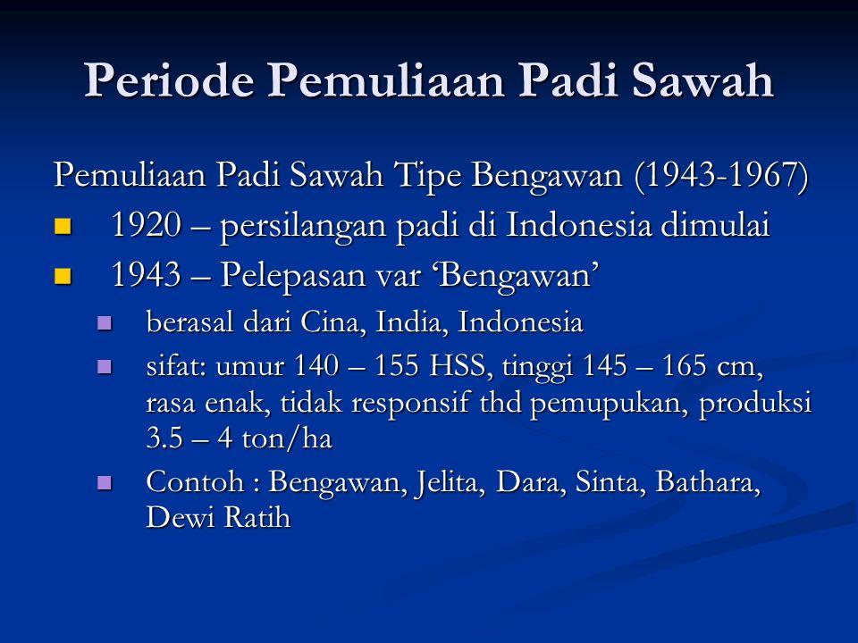 Periode Pemuliaan Padi Sawah