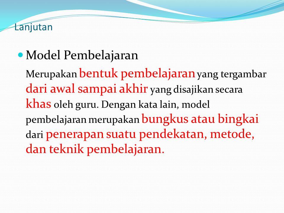 Model Pembelajaran Lanjutan