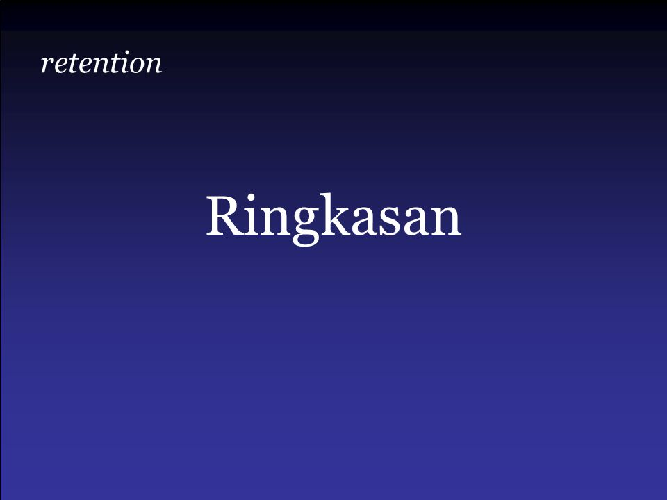 retention Ringkasan