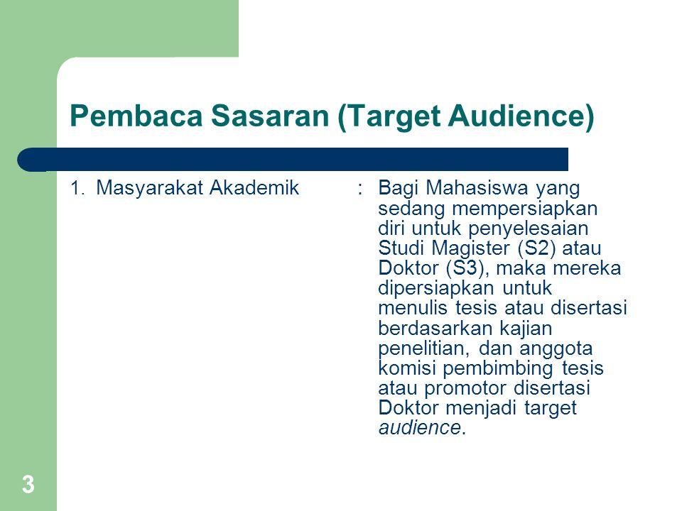 Pembaca Sasaran (Target Audience)