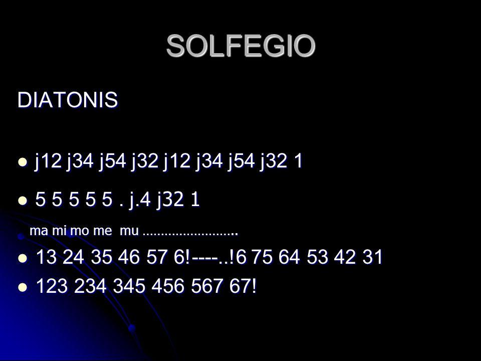 SOLFEGIO DIATONIS j12 j34 j54 j32 j12 j34 j54 j32 1