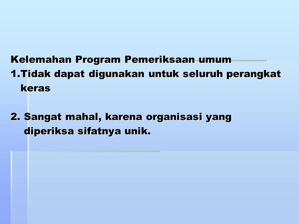 Kelemahan Program Pemeriksaan umum 1