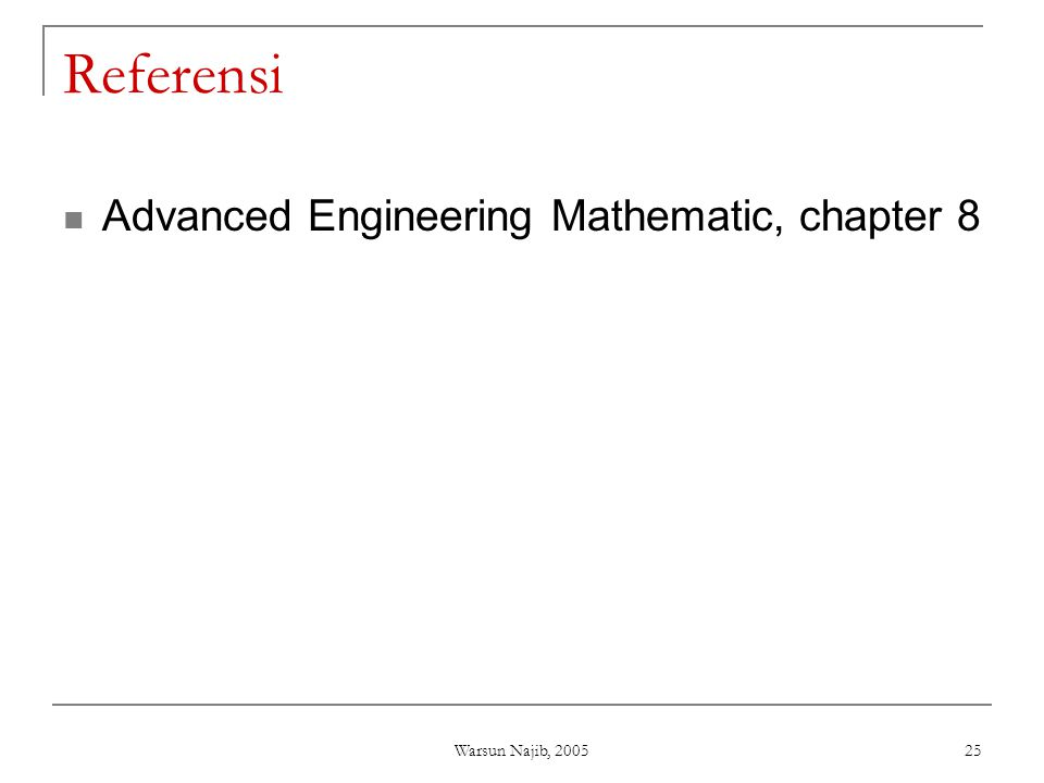 Referensi Advanced Engineering Mathematic, chapter 8