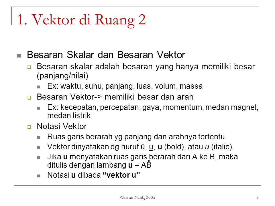 1. Vektor di Ruang 2 Besaran Skalar dan Besaran Vektor