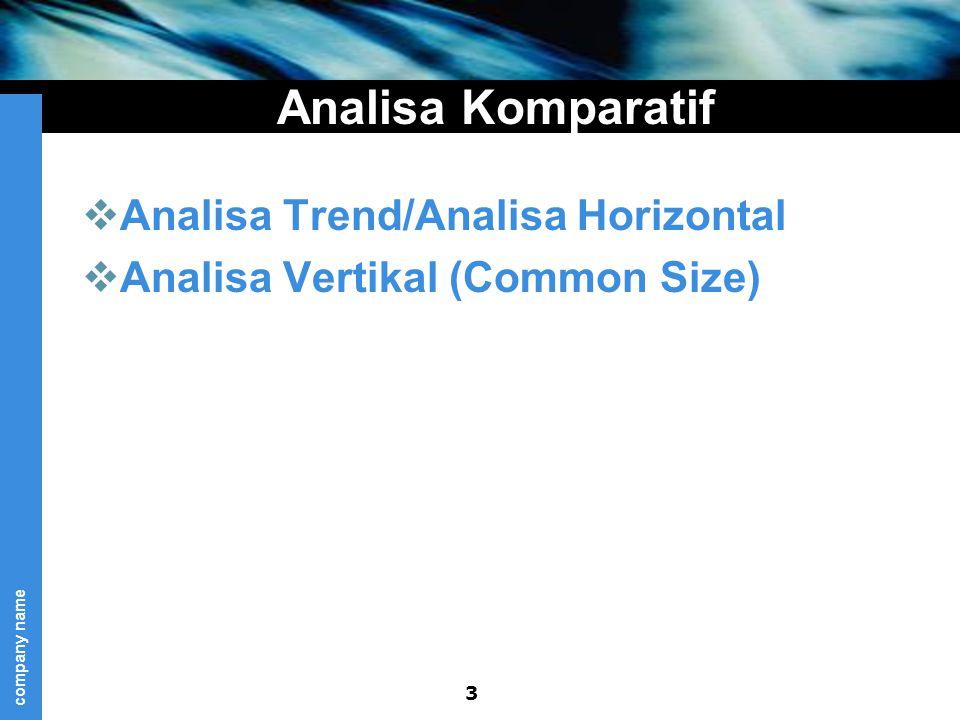 Analisa Komparatif Analisa Trend/Analisa Horizontal