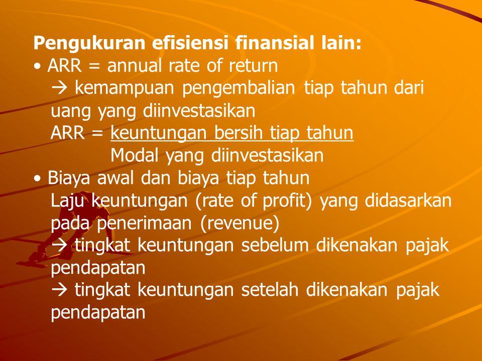 Pengukuran efisiensi finansial lain: