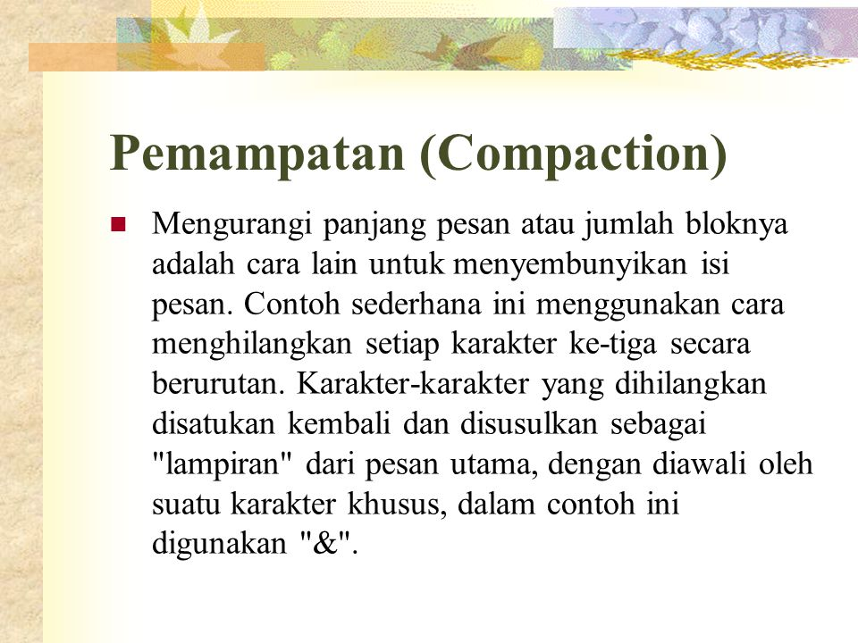 Pemampatan (Compaction)