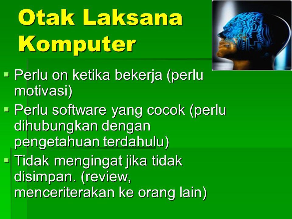Otak Laksana Komputer Perlu on ketika bekerja (perlu motivasi)