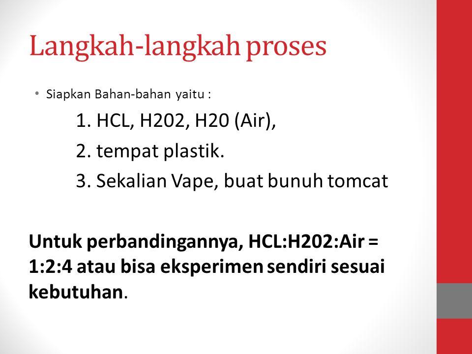 Langkah-langkah proses