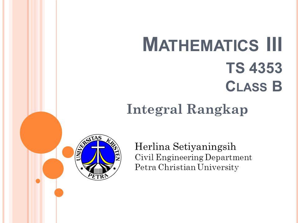 Mathematics III TS 4353 Class B