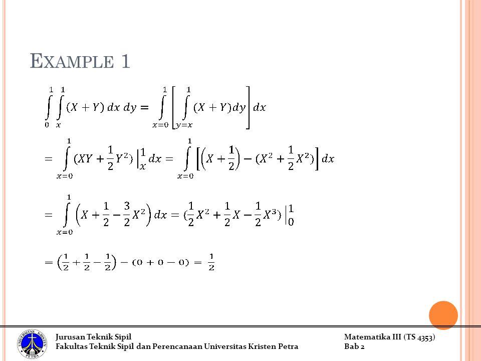 Example 1 Jurusan Teknik Sipil Matematika III (TS 4353)