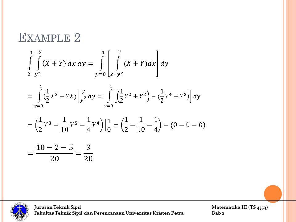 Example 2 Jurusan Teknik Sipil Matematika III (TS 4353)