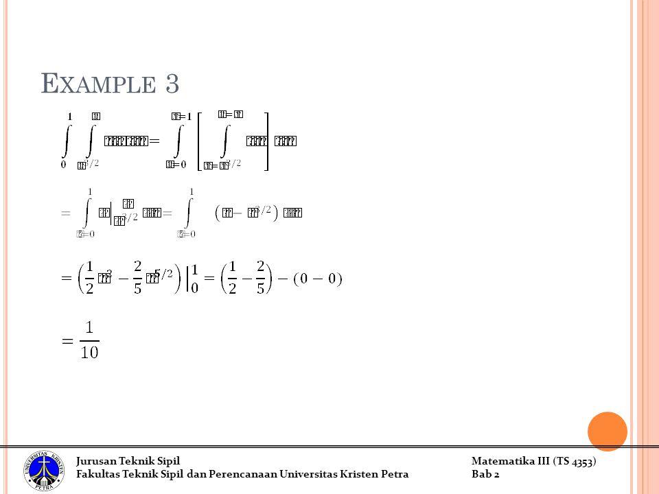 Example 3 Jurusan Teknik Sipil Matematika III (TS 4353)