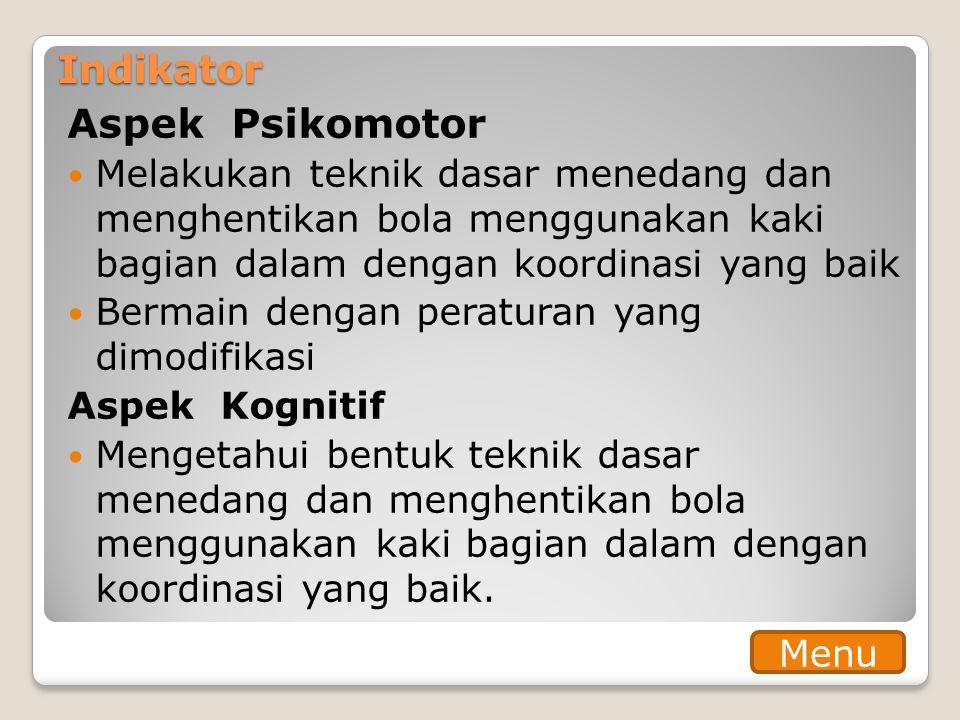 Aspek Psikomotor Indikator