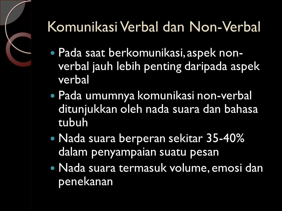 Komunikasi Verbal dan Non-Verbal