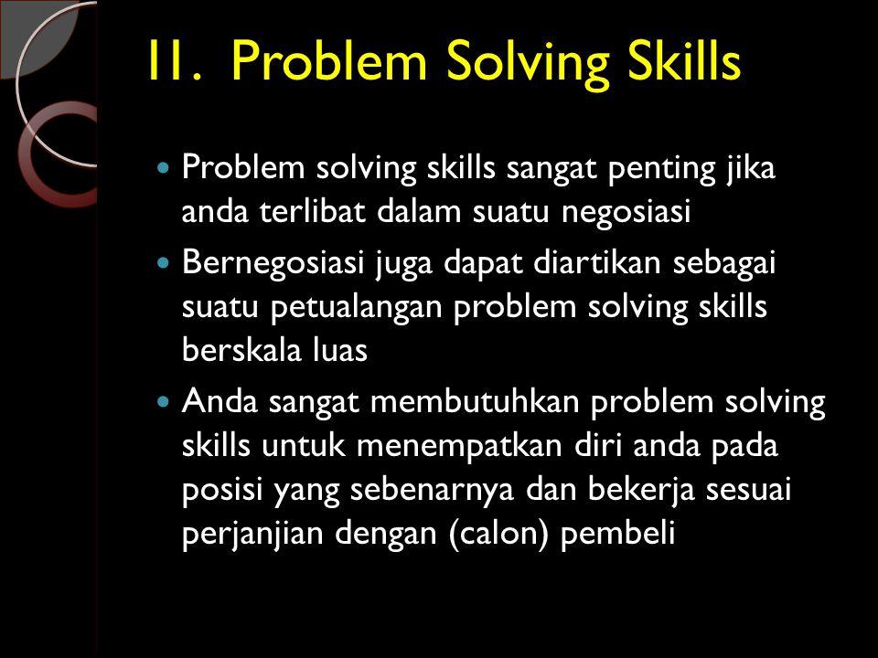 I1. Problem Solving Skills