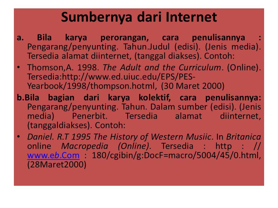 Sumbernya dari Internet