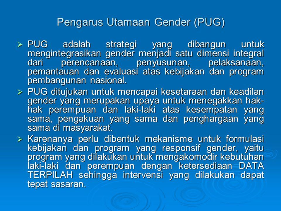 Pengarus Utamaan Gender (PUG)