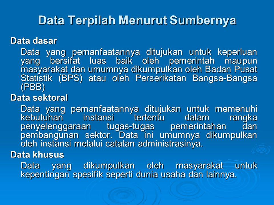 Data Terpilah Menurut Sumbernya