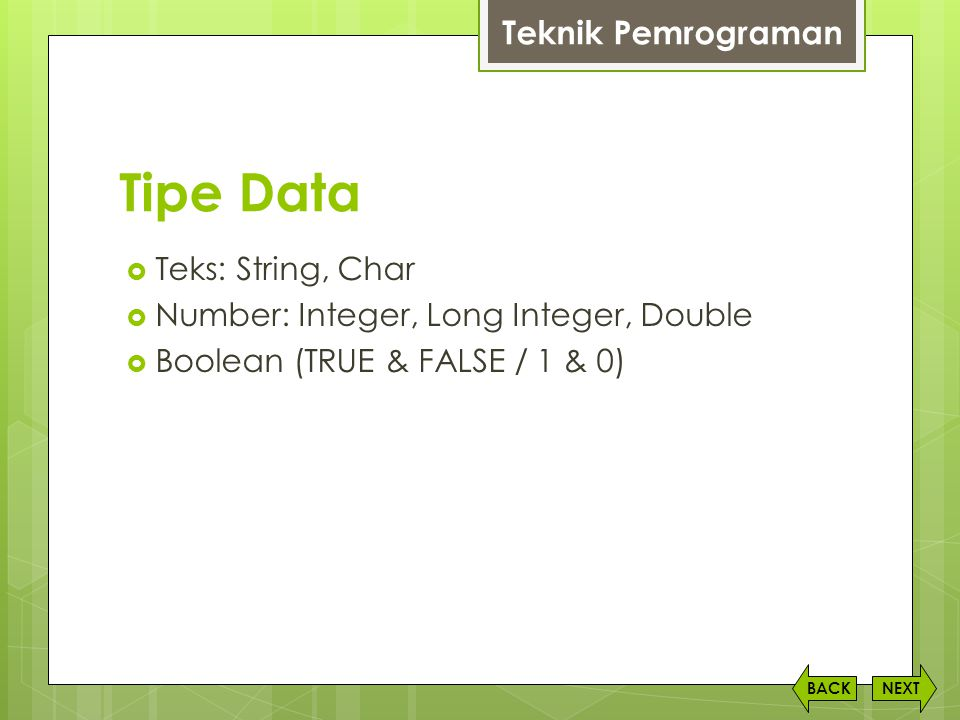 Tipe Data Teknik Pemrograman Teks: String, Char