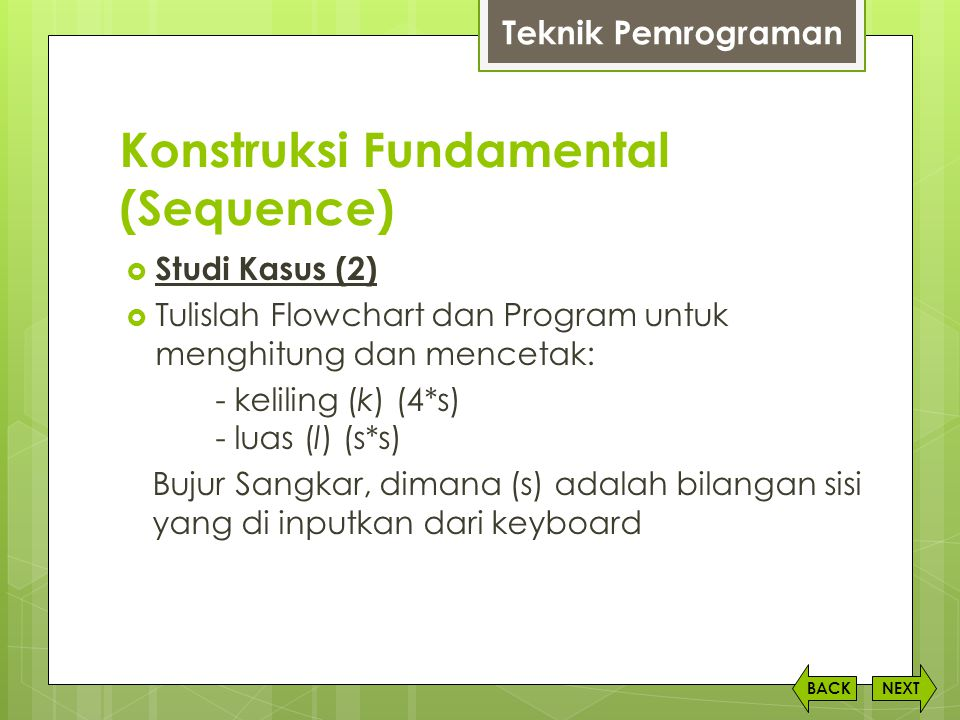 Konstruksi Fundamental (Sequence)