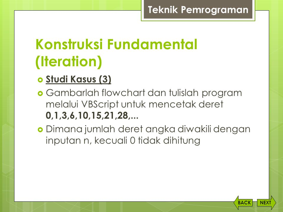 Konstruksi Fundamental (Iteration)