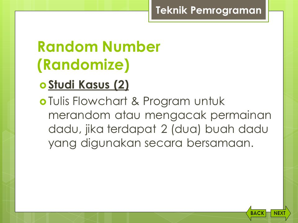 Random Number (Randomize)