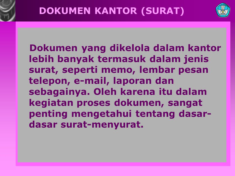 DOKUMEN KANTOR (SURAT)