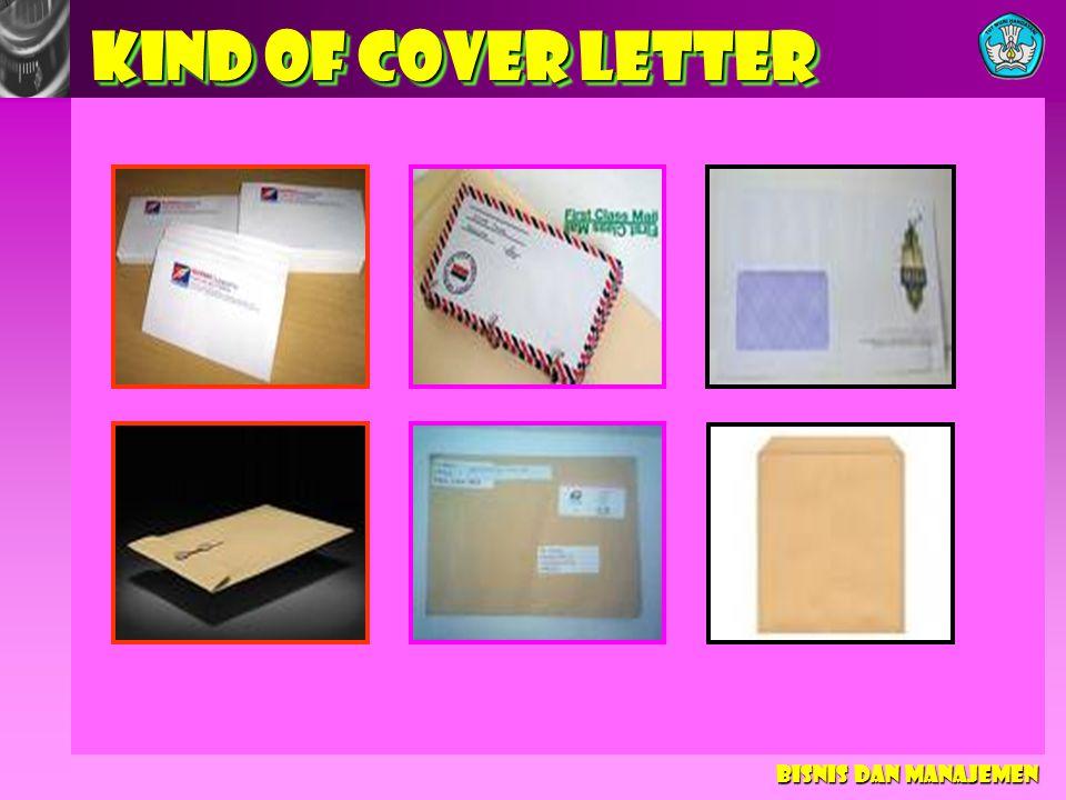 KIND OF COVER LETTER Bisnis dan Manajemen