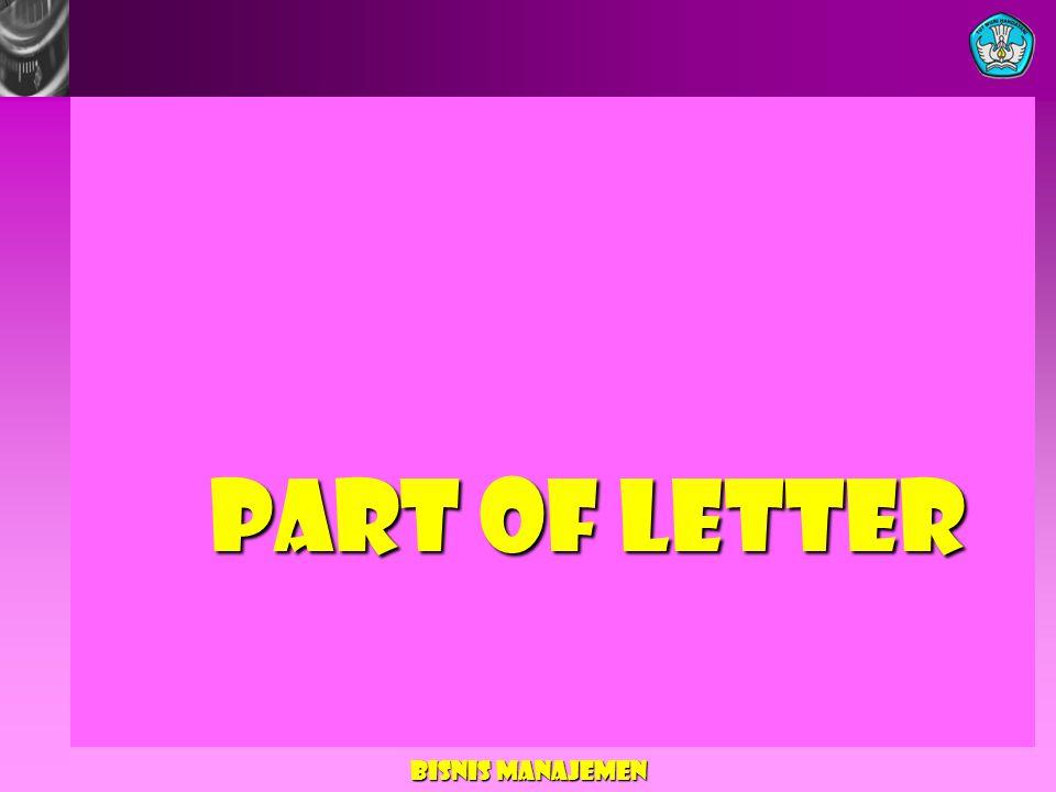 Part of Letter Bisnis Manajemen