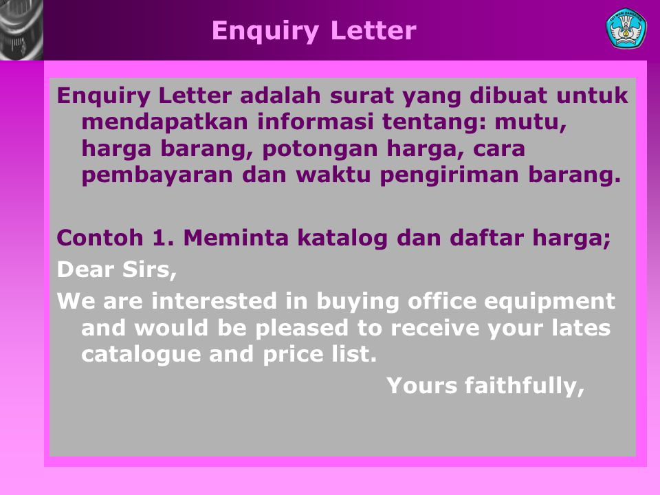 Enquiry Letter