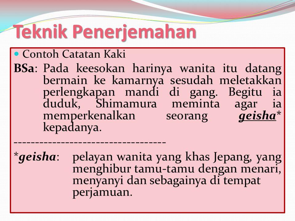 Teknik Penerjemahan Contoh Catatan Kaki.