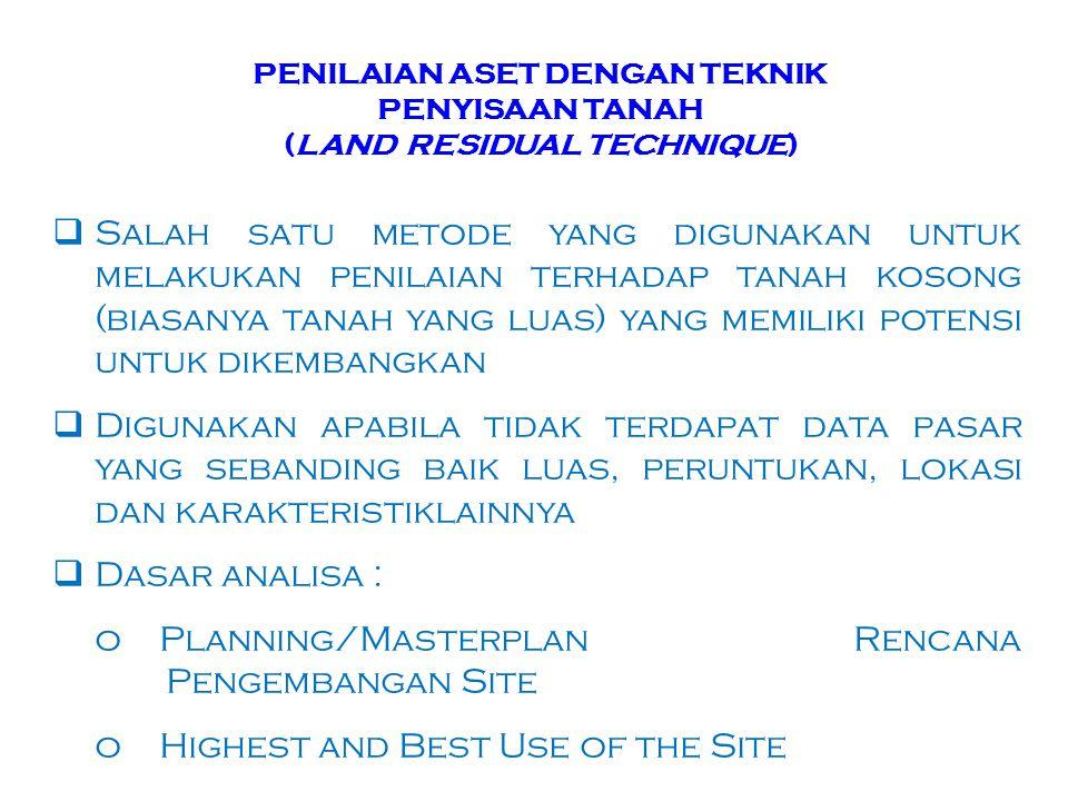 PENILAIAN ASET DENGAN TEKNIK PENYISAAN TANAH (LAND RESIDUAL TECHNIQUE)