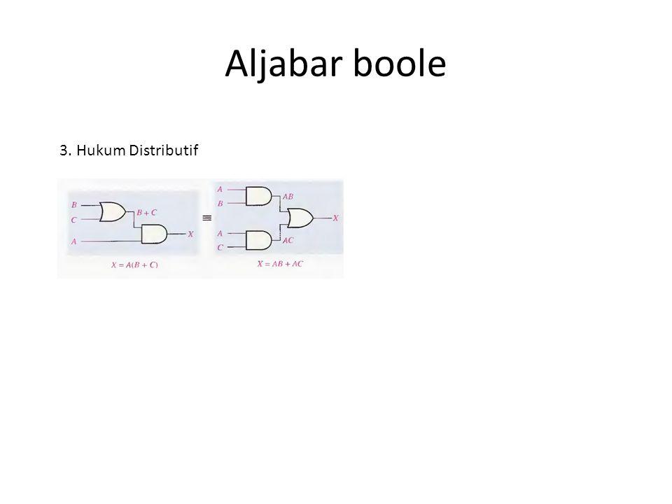 Aljabar boole 3. Hukum Distributif