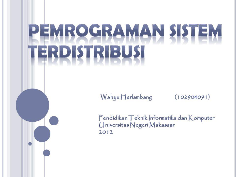 Pemrograman Sistem terdistribusi