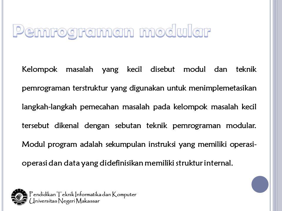 Pemrograman modular