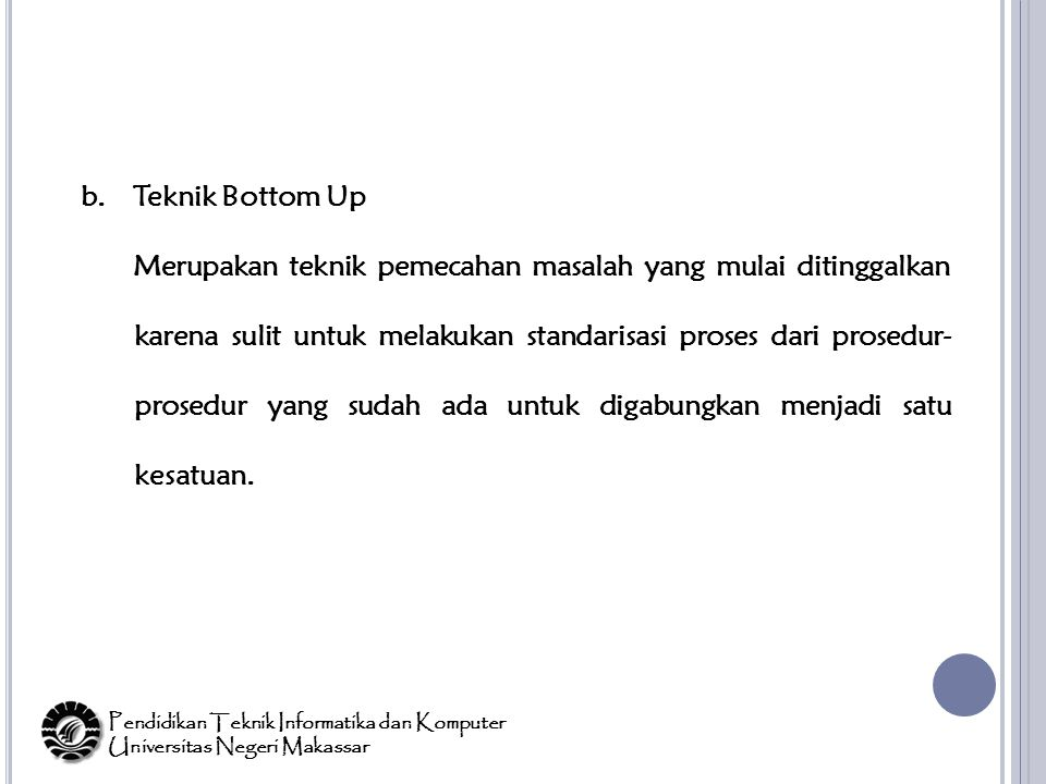 Teknik Bottom Up