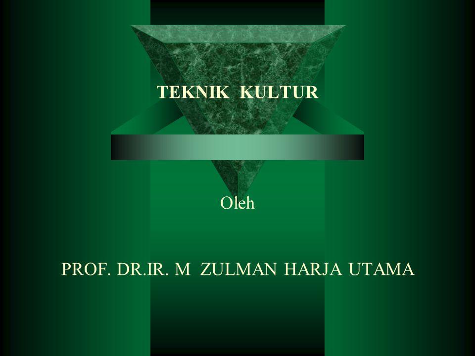 TEKNIK KULTUR Oleh PROF. DR.IR. M ZULMAN HARJA UTAMA