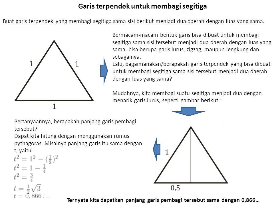 Garis terpendek untuk membagi segitiga