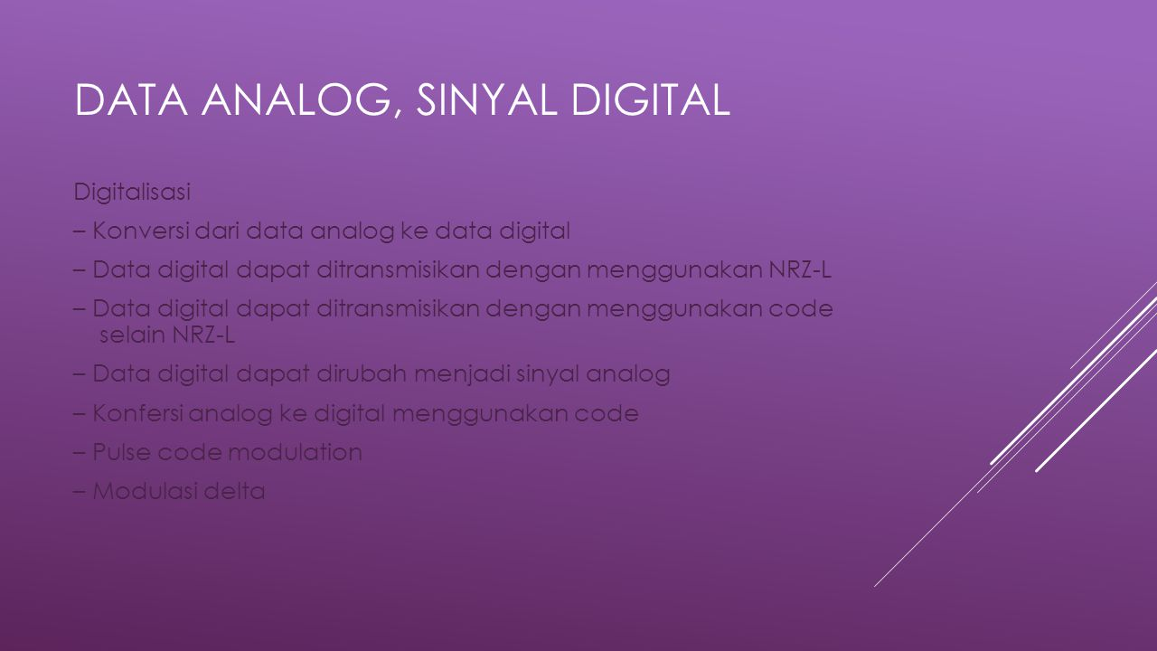 Data Analog, Sinyal Digital