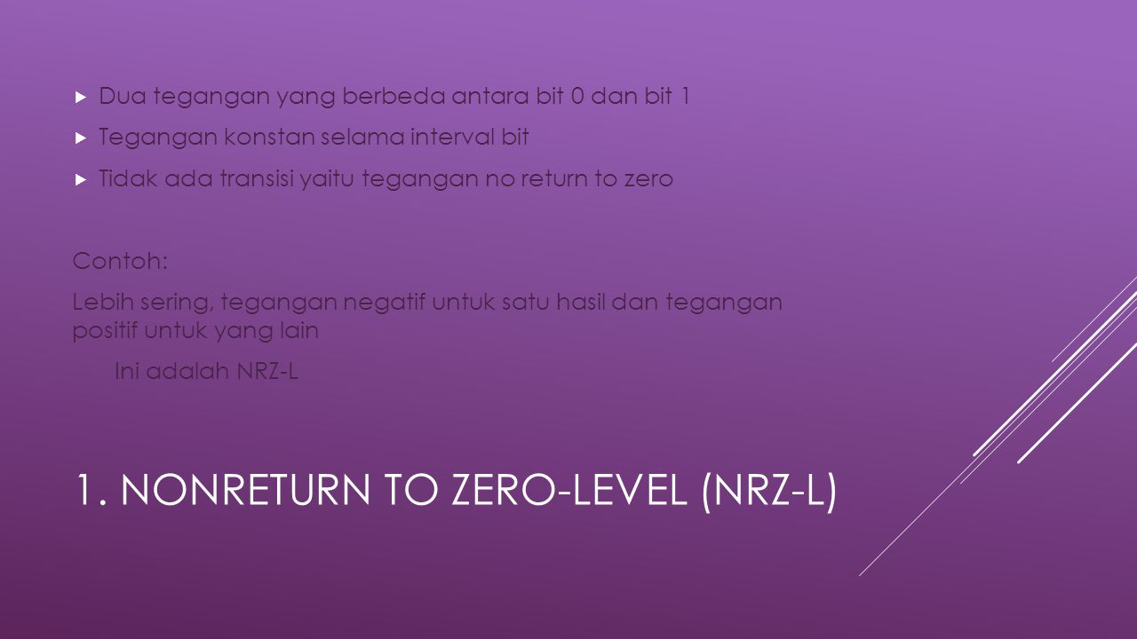 1. Nonreturn to Zero-Level (NRZ-L)