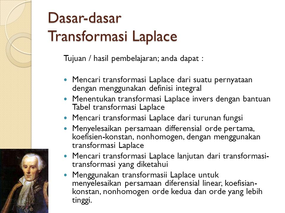 Dasar-dasar Transformasi Laplace