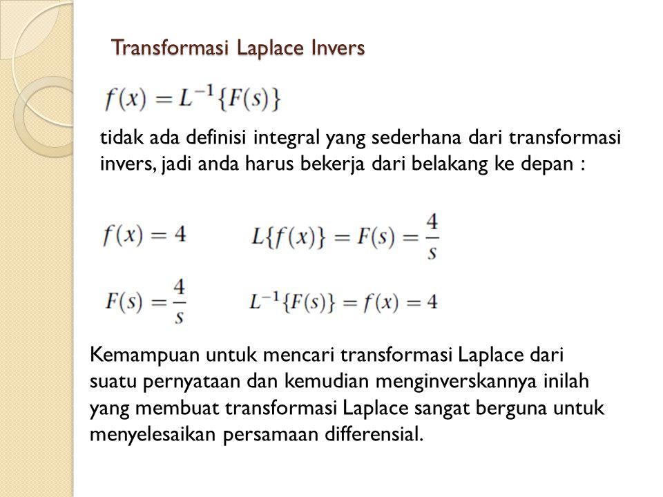 Transformasi Laplace Invers