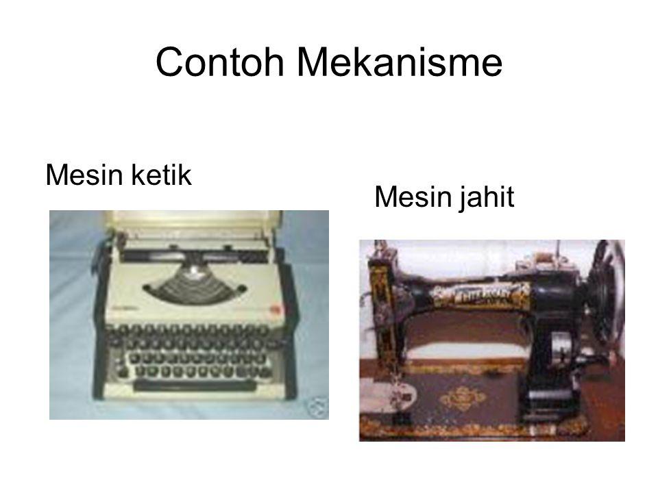 Contoh Mekanisme Mesin ketik Mesin jahit